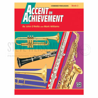 o'reilly/williams-accent on achievement combined percussion book 2 (w/cd)