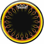 "remo 24"" round flames graphic bass drum head"