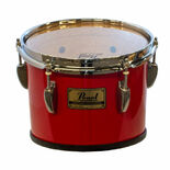 pearl 10x10 championship marching tom - candy apple red