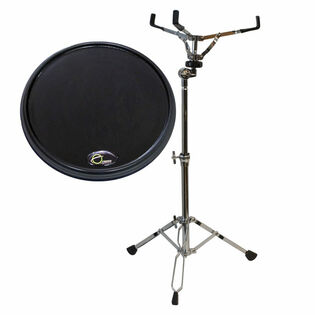 offworld percussion invader v3 practice pad with liberty one lightweight concert snare stand