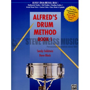 feldstein/black-alfred's drum method book 1 (book & dvd in sleeve)