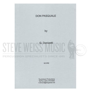 donizetti-don pasquale (perc. and timp. parts ed. by theresa dimond)