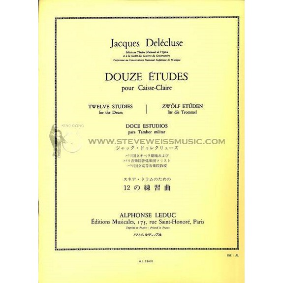 Delecluse-Twelve Studies for Snare Drum