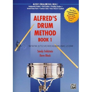 feldstein/black-alfred's drum method book 1 (book only)