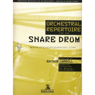 carroll-orchestral repertoire for the snare drum