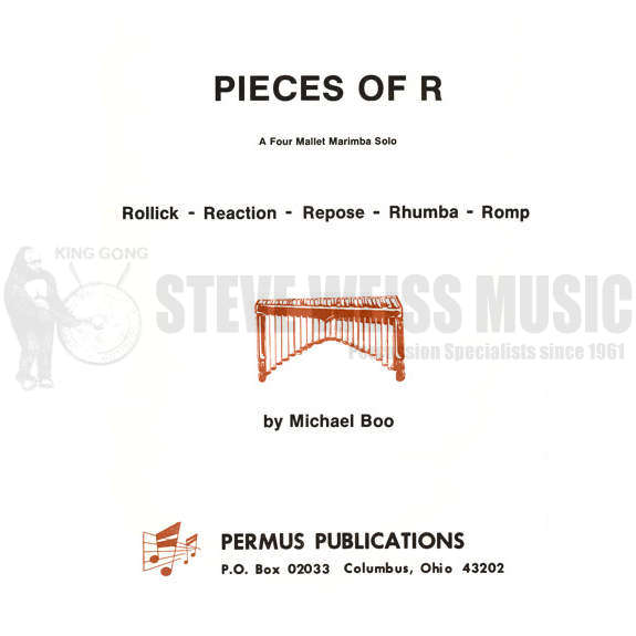 Pieces Of R By Michael Boo Marimba Solo Mallet Instrument