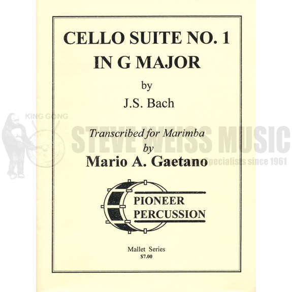 Bach Cello Suite 1 In G Major Arr Gaetano M