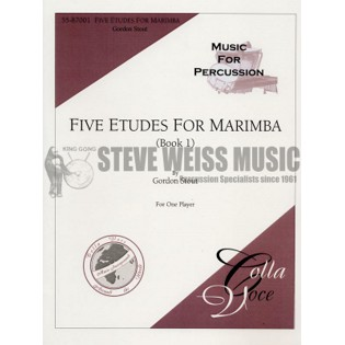stout-etudes for marimba bk. 1-m