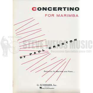 creston-concertino for marimba (sp)-m/pn red.