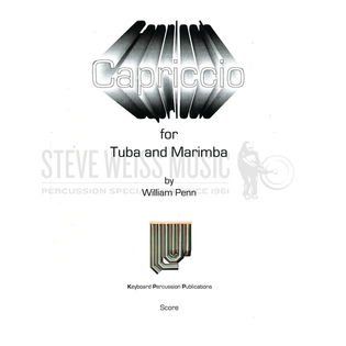 Penn-Capriccio for Tuba and Marimba (SP)-M/TU | w/ Accomp