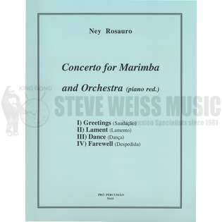 rosauro-concerto for marimba and orchestra-m/pn red.