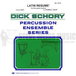 latin resume by thomas l davis percussion ensemble music sheet