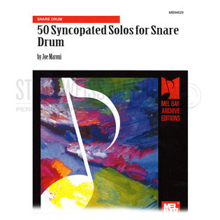 maroni-50 syncopated solos for snare drum