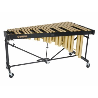 yamaha 3.5 octave gold soloist vibraphone with motor - matte finish
