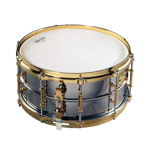 Ludwig chrome plated brass snare drum lb402bbtwm 14x6 for Yamaha stage custom steel snare drum 14x6 5