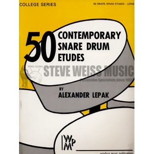 lepak-50 contemporary snare drum etudes