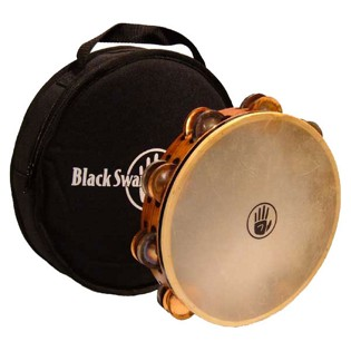 "black swamp 10"" double row tambourine - tc1"