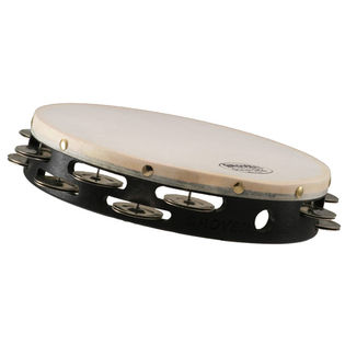 "grover 10"" projection-plus double row tambourine - german silver"