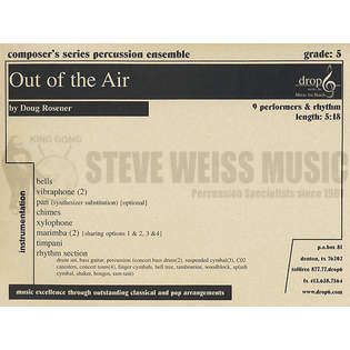 Out of the Air by Doug Rosener | Percussion Ensemble Music