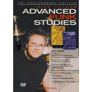 latham-advanced funk studies/contemporary drumset studies (dvd)