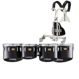 yamaha field-corps marching tenor set with biposto hinge carrier