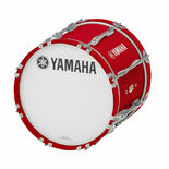 yamaha marching bass drum logo head