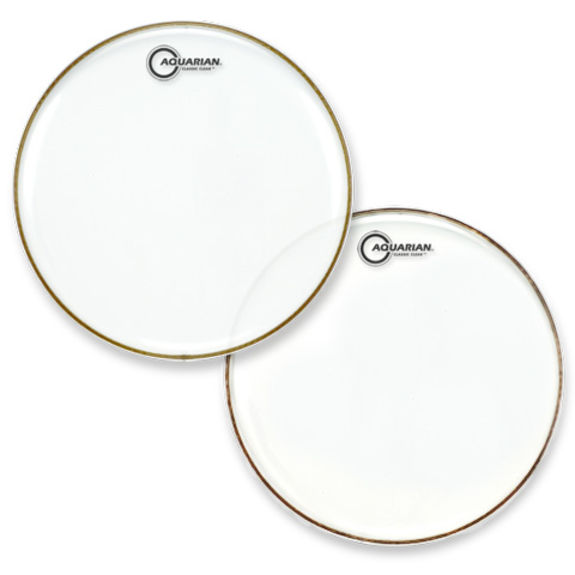 aquarian classic clear single ply drum head snare drum heads tom heads drum set drum heads. Black Bedroom Furniture Sets. Home Design Ideas