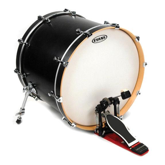 evans g1 batter coated white bass drum head bass drum heads steve weiss music. Black Bedroom Furniture Sets. Home Design Ideas