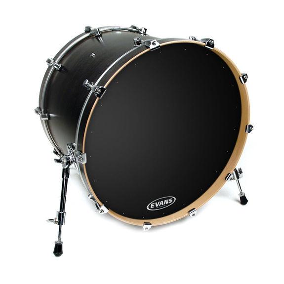 evans eq1 resonant black bass drum head bass drum heads steve weiss music. Black Bedroom Furniture Sets. Home Design Ideas