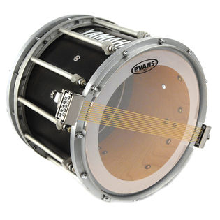 evans ms3 clear snare side marching drum head