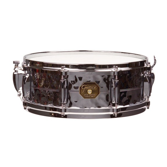 gretsch classic 4160 hammered chrome over brass snare drum 14x5 metal snare drums snare. Black Bedroom Furniture Sets. Home Design Ideas