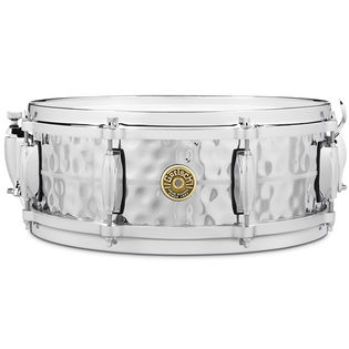 gretsch classic 4160 hammered chrome over brass snare drum - 14x5