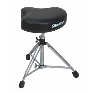 gibraltar 6608 moto style vinyl drum throne