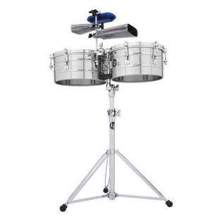 lp tito puente timbale set - 14/15 stainless steel (257s)