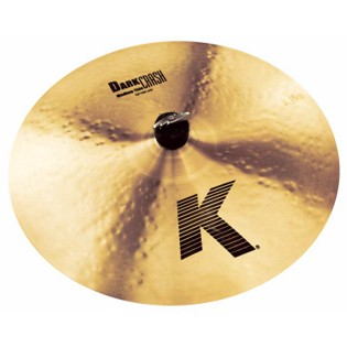 "zildjian 16"" k dark medium thin crash cymbal"