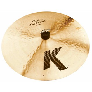 "zildjian 16"" k custom dark crash cymbal"