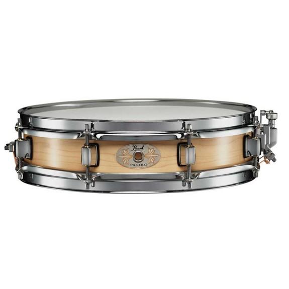 pearl maple piccolo snare drum natural finish 13x3 wood snare drums snare drums steve. Black Bedroom Furniture Sets. Home Design Ideas