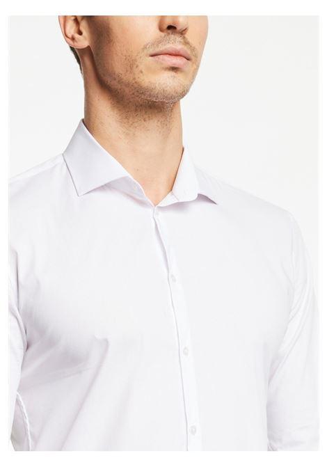Camicia slim fit manica lunga cerimonia LANCETTI | 10000008 | 285GX01BIANCO