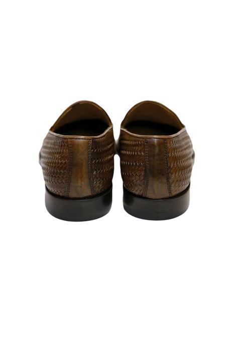 Scarpe mocassini lavorazione stampa intrecciata AVANGUARDIA STILISTICA | 921336138 | 1001 PLOTCUOIO
