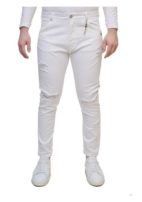 Jeans bull denim cropped BERNA | 9 | BRNM190243BIANCO