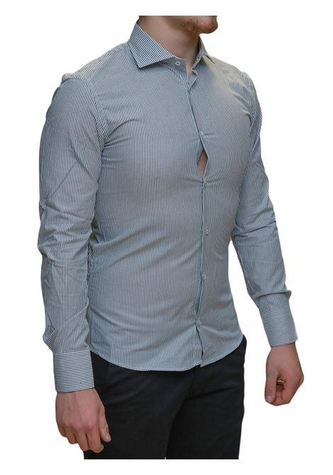 Camicia manica lunga slim fit BESILENT | 10000008 | BSCA0192VERDE