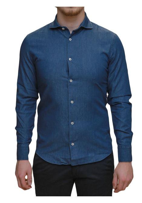 Camicia manica lunga slim fit BESILENT | 10000008 | BSCA0208BLU