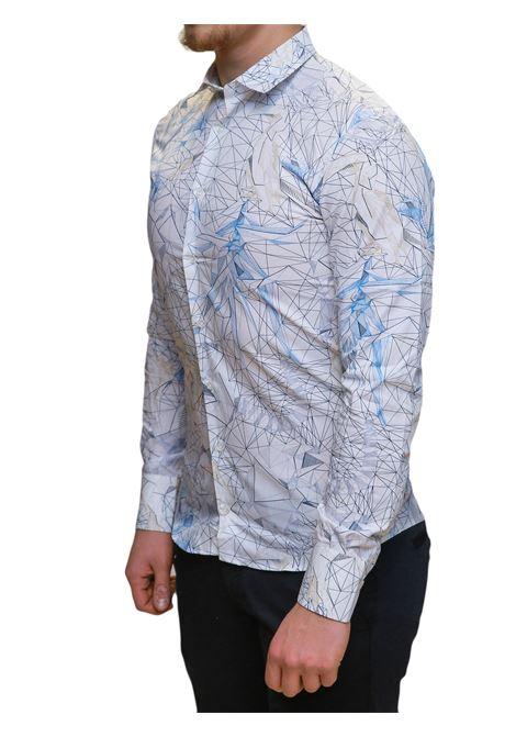 Camicia manica lunga slim fit BESILENT | 10000008 | BSCA0222CELESTE