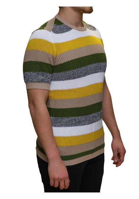 Girocollo maglia in filo mezza manica BESILENT | 5032237 | BSMA0393NOCCIOLA
