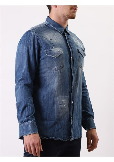 Camicia regular fit manica lunga denim KLIXS JEANS | 5032236 | CAM108NAVY