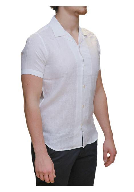 Camicia mezza manica lino MARKUP | 6 | MK993007BIANCO