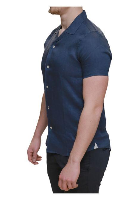 Camicia mezza manica lino MARKUP | 6 | MK993007NAVY