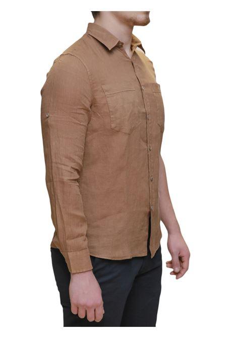 Camicia manica lunga MARKUP | 5032236 | MK993017TABACCO