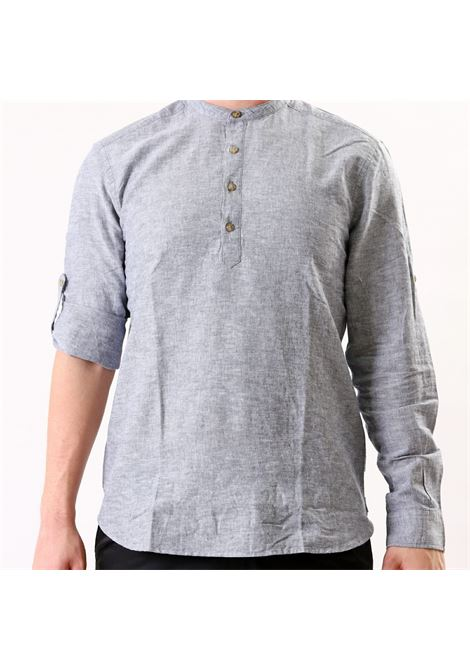 Camicia slim fit manica lunga ONLY & SONS | 10000008 | ONSCAIDEN LINENBLU
