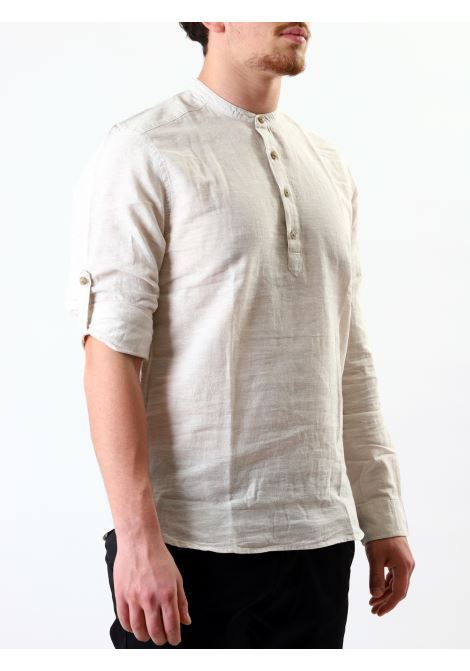 Camicia slim fit manica lunga ONLY & SONS | 10000008 | ONSCAIDEN LINENWHITE